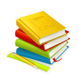 Stack of textbooks. On the white Royalty Free Illustration