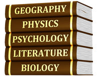 Stack of textbooks Stock Photo
