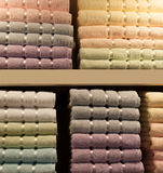 Stack of textile soft  towels Stock Image