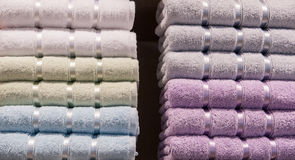 Stack of textile soft  towels Stock Photography