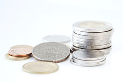 Stack of Thai coins Royalty Free Stock Photography