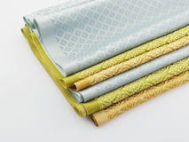 Stack of Thai fabric Stock Photography