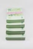 Stack of Thai money on white background. Thai money Stock Photography