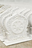 Stack of Thai style stucco. In Thai temple Royalty Free Stock Photo