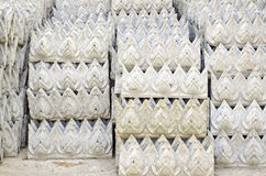 Stack of  Thai style stucco. For temple construction Stock Images