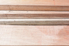 stack thick plank for bridge construction with wood hard outdoor Stock Photography