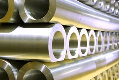 Stack of thik pipes abstract. Stack of thik crossing pipes abstract perspective Stock Photo