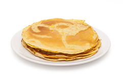 Stack of thin pancakes Royalty Free Stock Photo