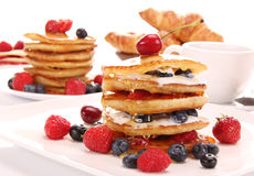 A stack of thin pancakes Royalty Free Stock Photography