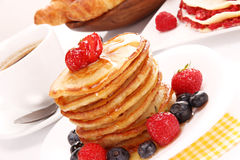 A stack of thin pancakes Stock Photo