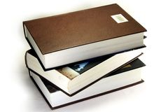 A stack of three books Royalty Free Stock Photo