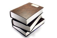 A stack of three books Stock Photography