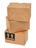 Stack of three cardboard boxes Royalty Free Stock Photo