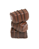 Stack of Three Chocolates Royalty Free Stock Images