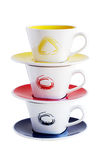 Stack of three cups Stock Images
