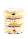 Stack of three donut. On white background Royalty Free Stock Photo