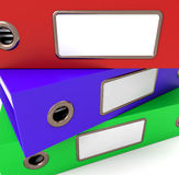 Stack Of Three Files Royalty Free Stock Photo
