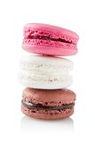 Stack of three macarons Royalty Free Stock Image