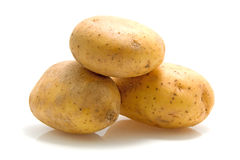 Stack of three potatoes Stock Image