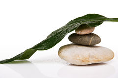 Stack of three rounded rocks Stock Photography