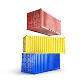 A stack of three sea freight Royalty Free Stock Photos