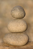 Stack of three stones Royalty Free Stock Images