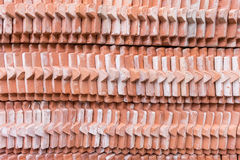 Stack of tile brick roof Stock Images
