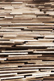 Stack of timber. Untidy stack of raw timber for construction Royalty Free Stock Photos