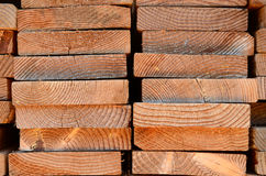 Stack Of Timber Planks Royalty Free Stock Photography