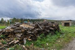 Stack of timber Royalty Free Stock Photography