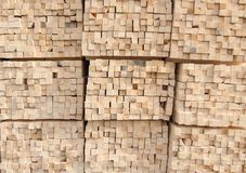 Stack of timber wood texture Royalty Free Stock Images
