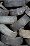 Stack of tires. Stack of tires at a junk yard Royalty Free Stock Photo