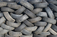 Stack of tires. Stack of tires at a junk yard Stock Photo