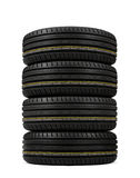 Stack tires Stock Photos