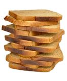 Stack of toast rye bread Stock Images