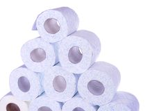 Stack of toilet paper rolls Royalty Free Stock Photo