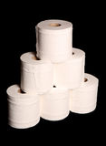 Stack of toilet paper rolls Stock Photography