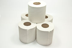 Stack of toiletpaper Stock Photo