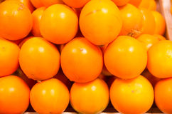 Stack of tomatoes at the market Royalty Free Stock Image