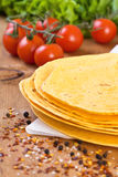 Stack of tortillas Royalty Free Stock Photos