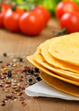 Stack of tortillas Stock Photography