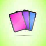 Stack of Touch Screen Tablets Stock Images