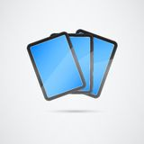 Stack of Touch Screen Tablets Royalty Free Stock Image