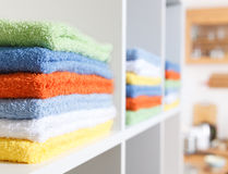 Stack of towel Royalty Free Stock Photography