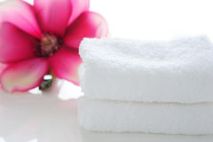 A stack of towels Stock Photo