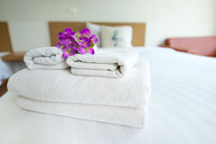 Stack of towels Royalty Free Stock Photo