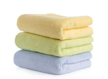 Stack of towels isolated on white Stock Image