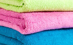 Stack of the towels Stock Images