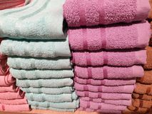 The stack of towels royalty free stock photography