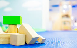 Stack of Toy block on children playground Stock Photography